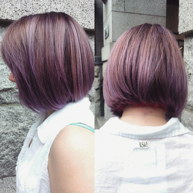 Lovely Lilac with a Pink Panel