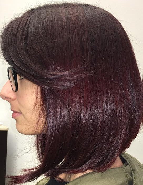 Neat Red Violet Bangs