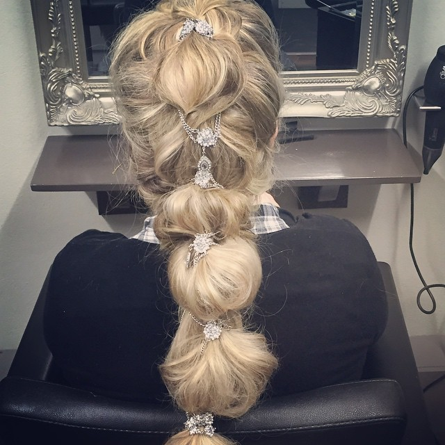 New Quinceanera Hairstyle with Blonde Ombre