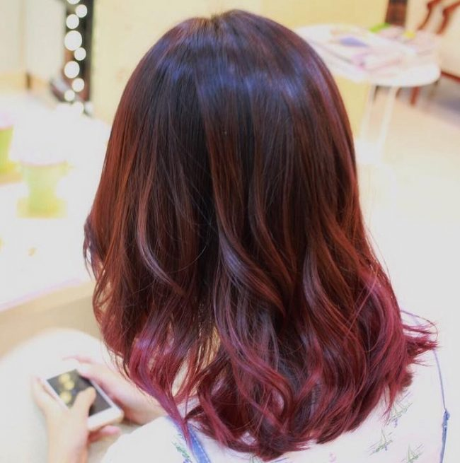 Ombre and Balayage Combination