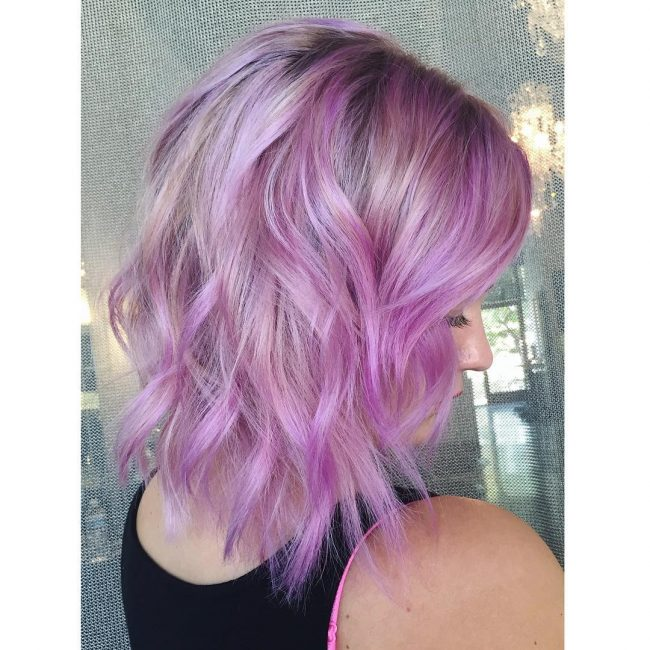 Orchid Pink and Light Purple
