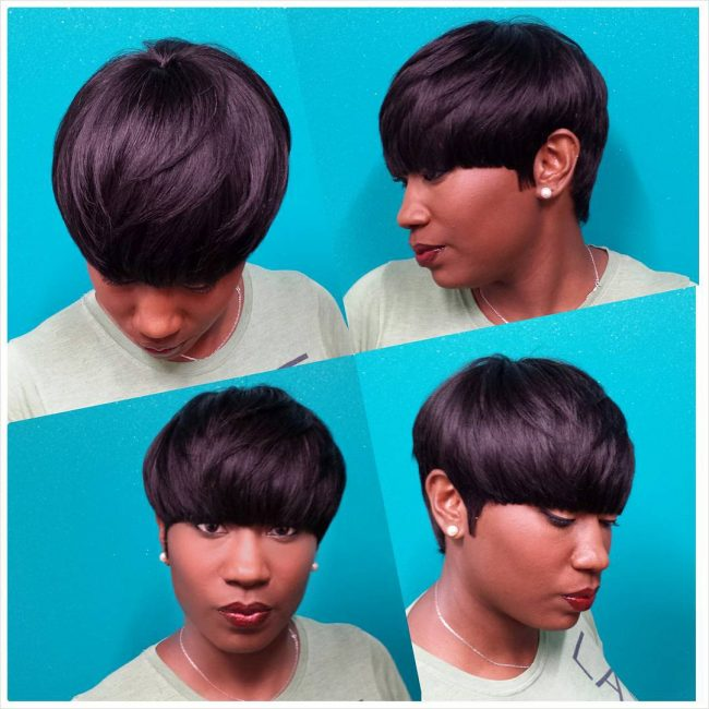 Pageboy with Low Fringe