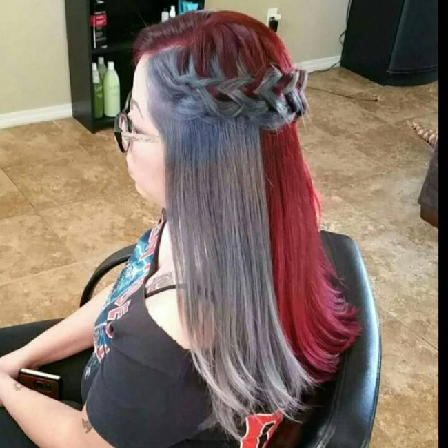 Playful Red Violet and Gray