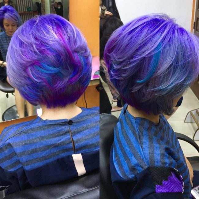 Purple and Blue Bombshell