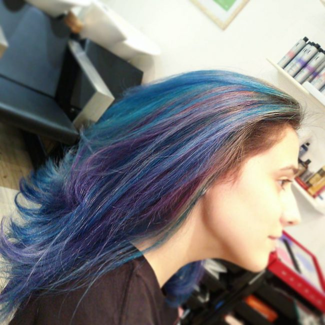 Purple and Blue Hair Fusion