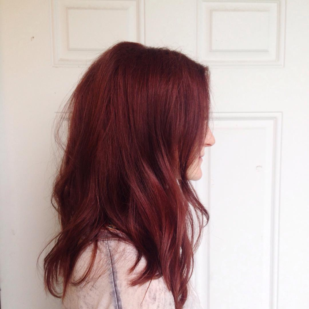 50 bewitching red violet hair color ideas magical - Brown and violet combination ...