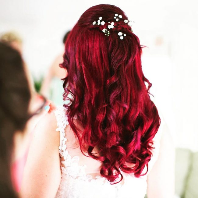 Red Wedding Hair