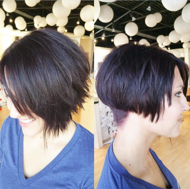 Rich and Textured Short Haircut