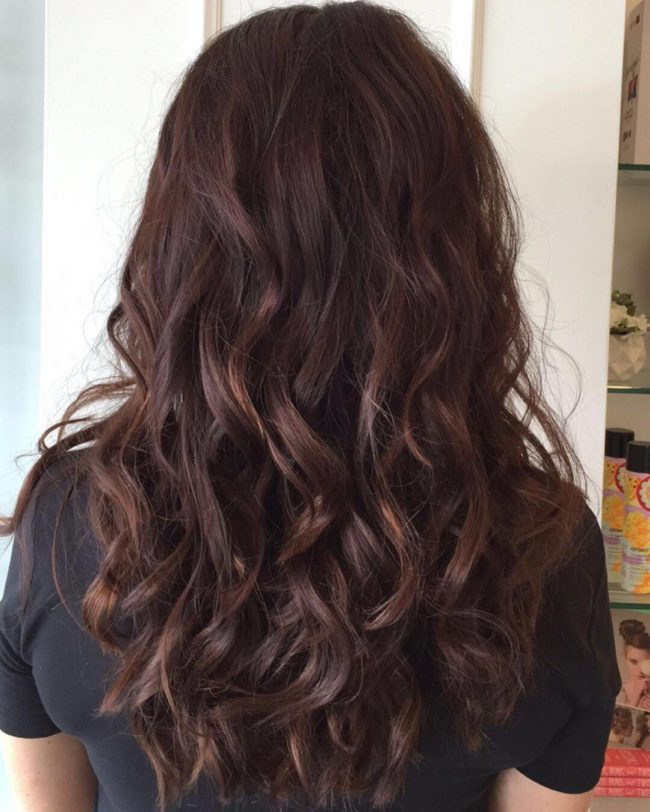 Rippling Waves with Copper Highlights