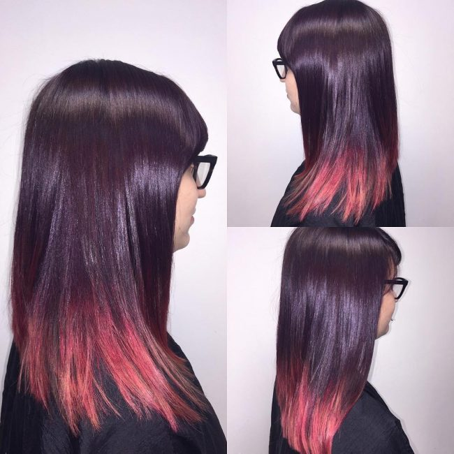 Sassy Deep Violet to Red Ombre