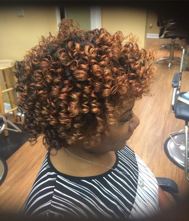 Short Berry Curly