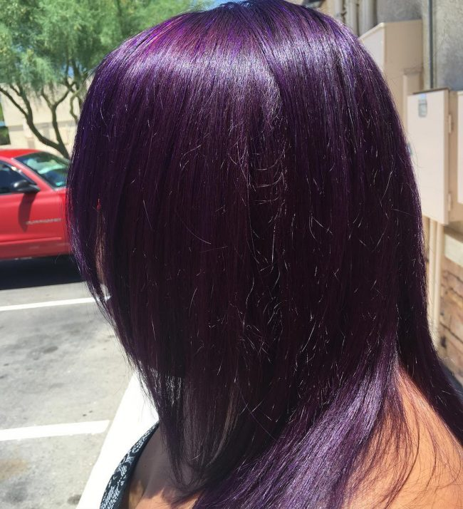 50 stylish dark purple hair color ideas � destined to