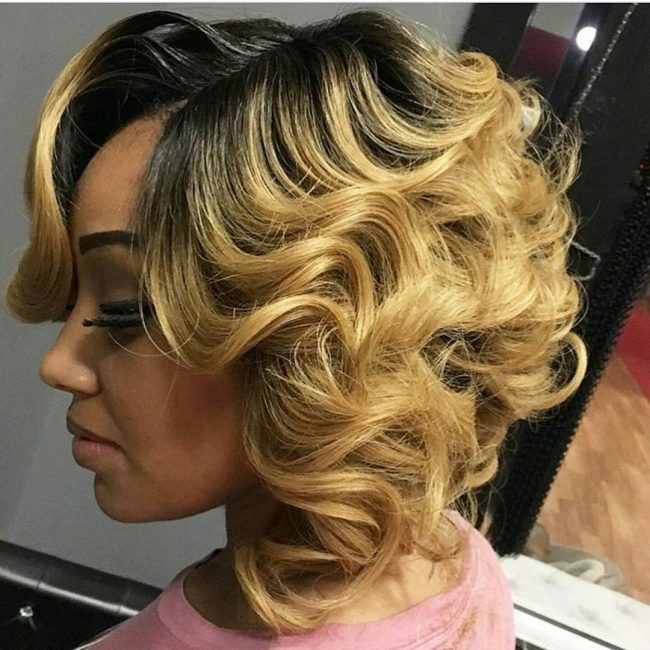 Sweet and Curly Bob