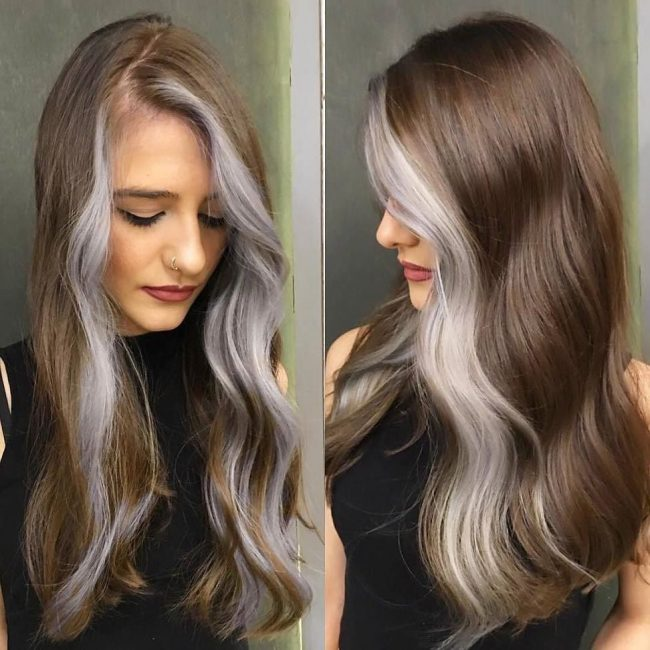 Tasty Brown Locks with Partial Gray