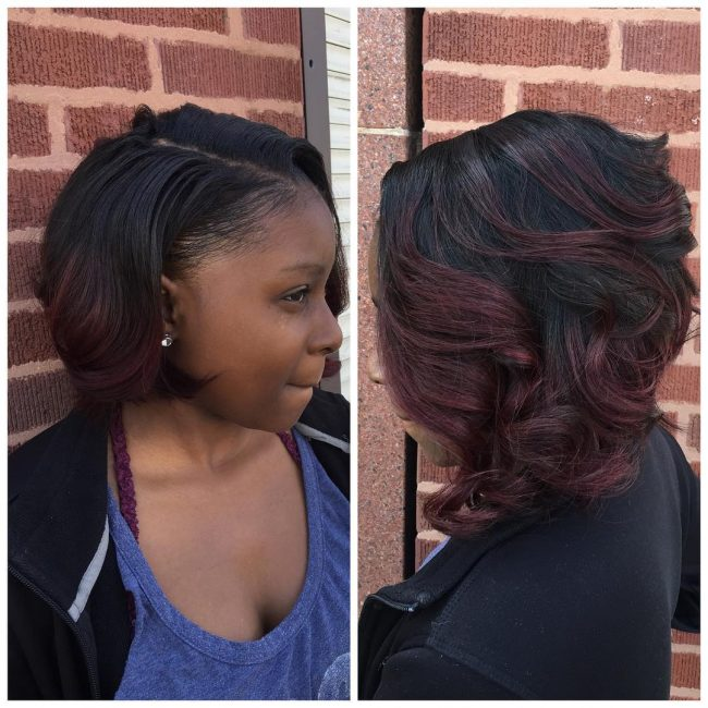 Thick Burgundy Curls