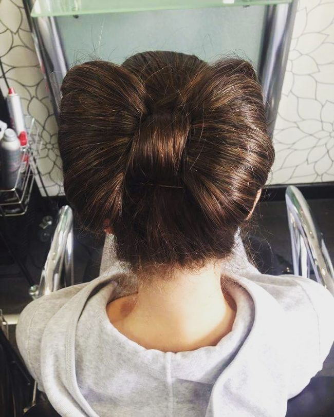 Unique Brunette Bow