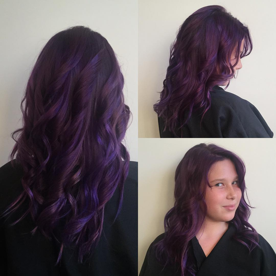 50 Stylish Dark Purple Hair Color Ideas  Destined To Mesmerize