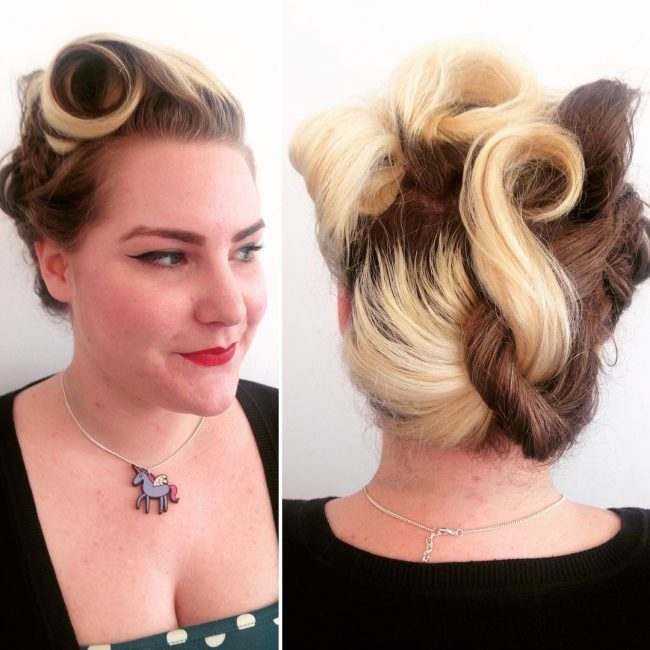 Vintage Style Two-Toned Hair