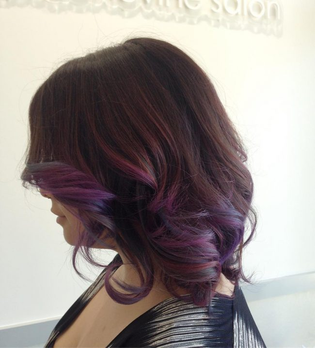 Viola and Mulberry Balayage