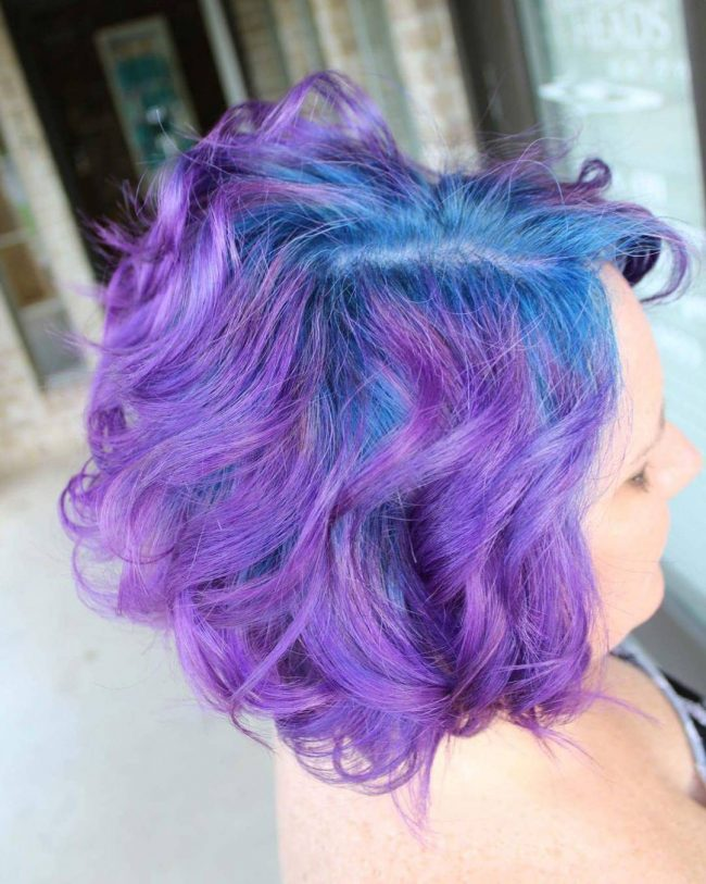 Vivid Blue and Purple Hair