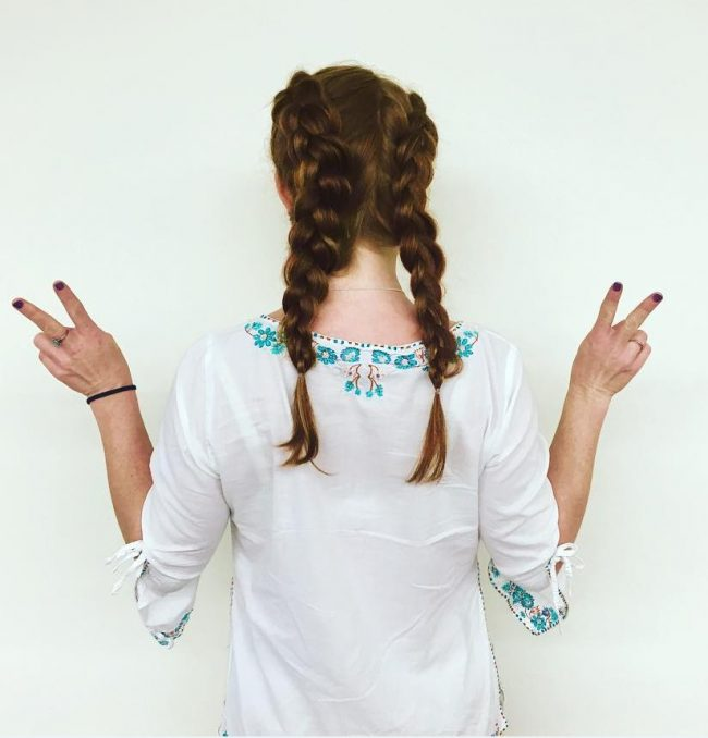 Voluptuous Double Dutch Braids