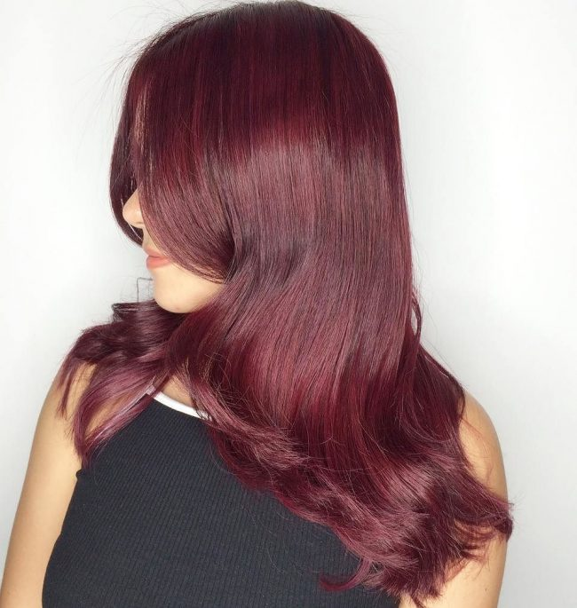 Wavy Burgundy Locks