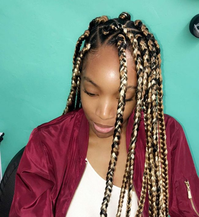 45 stunning medium box braids experiment with loved one