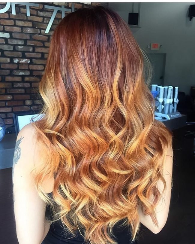 45 Inspirational Red And Blonde Hair Trend Ideas For 2019