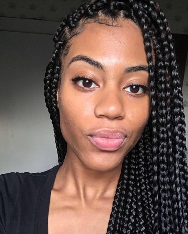 45 Stunning Medium Box Braids -- Experiment With Loved One