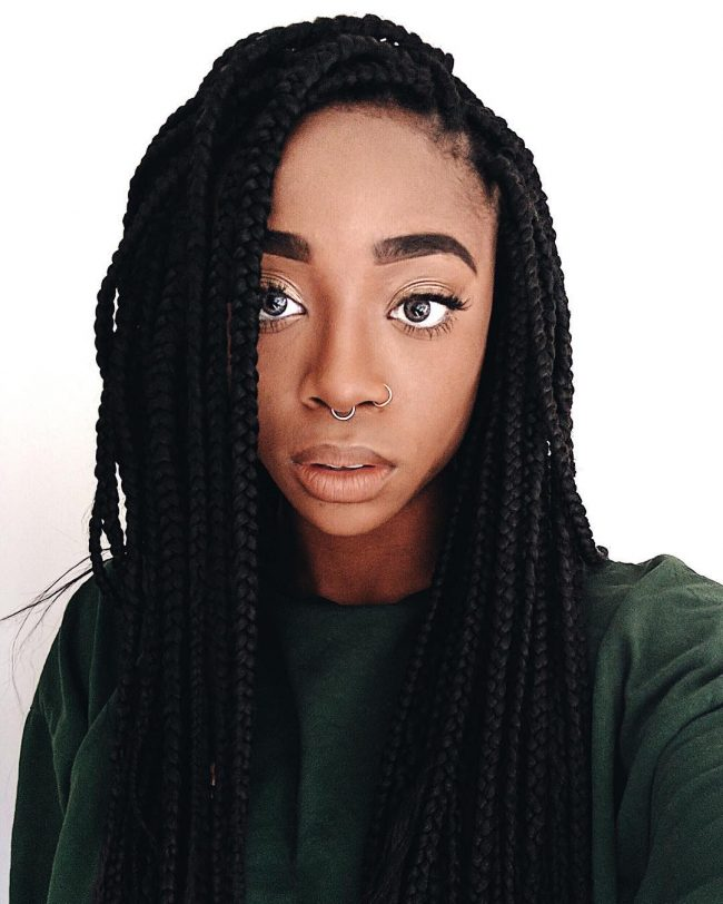 Box Braid Hairstyles 22