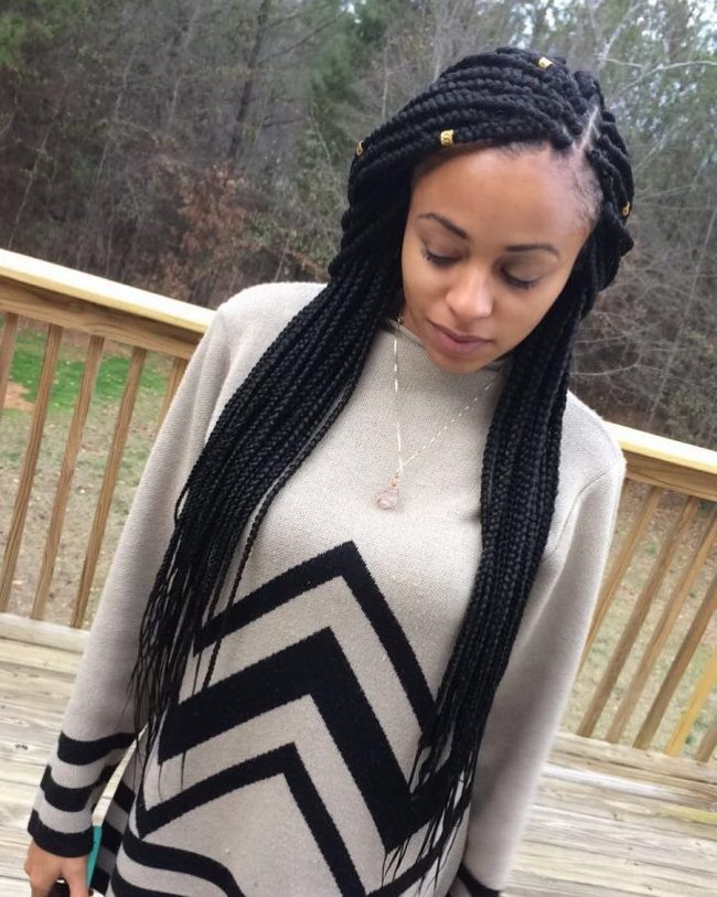 Box Braid Hairstyles 23