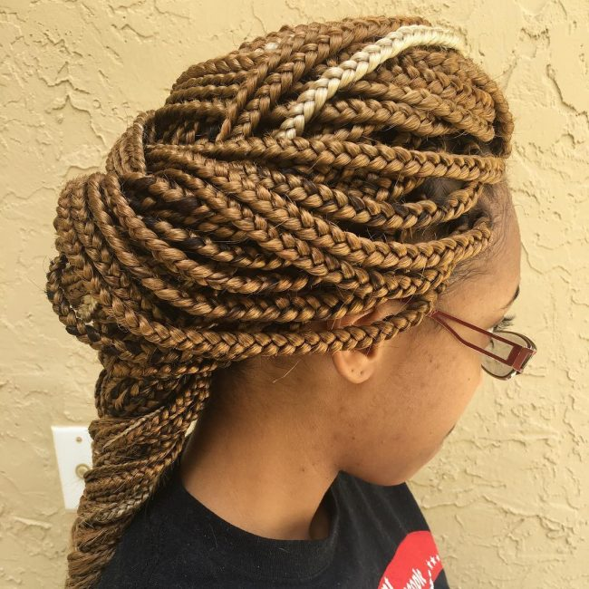 Box Braid Hairstyles 50