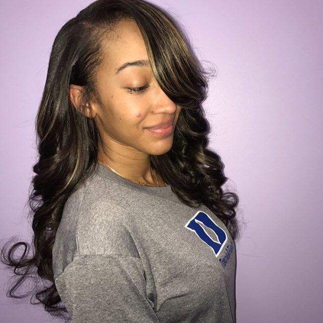sew in hairstyles 41