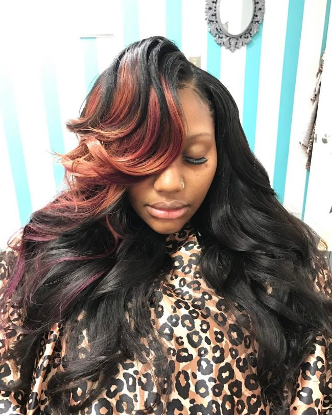 sew in hairstyles 8