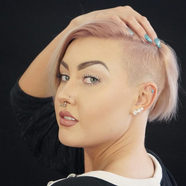 shaved hairstyles for women 19