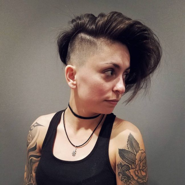 shaved hairstyles for women 42