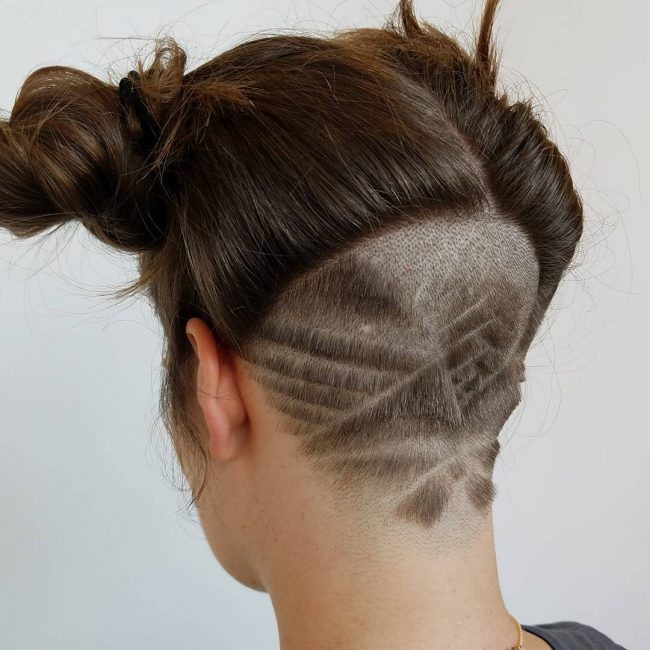 shaved hairstyles for women 44