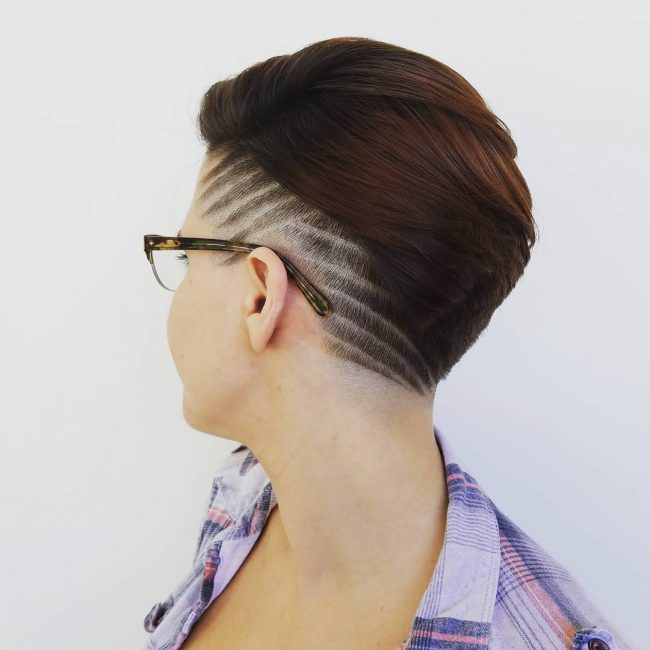 shaved hairstyles for women 46