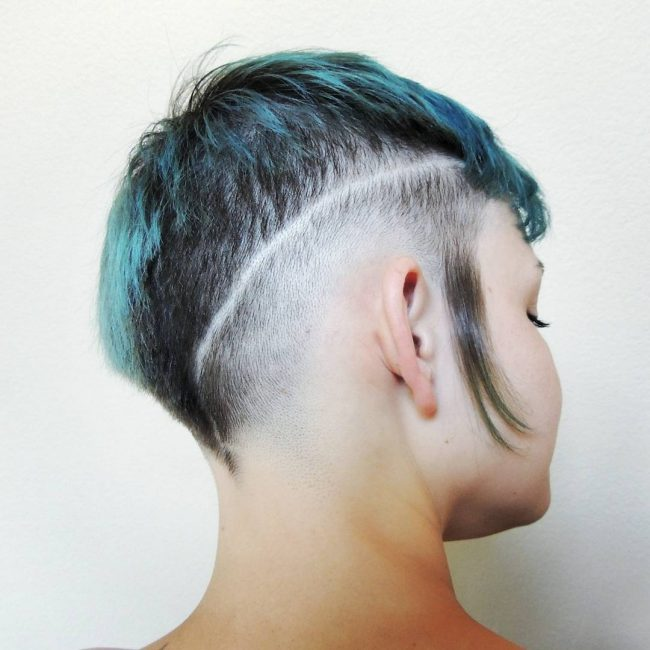 shaved hairstyles for women 48