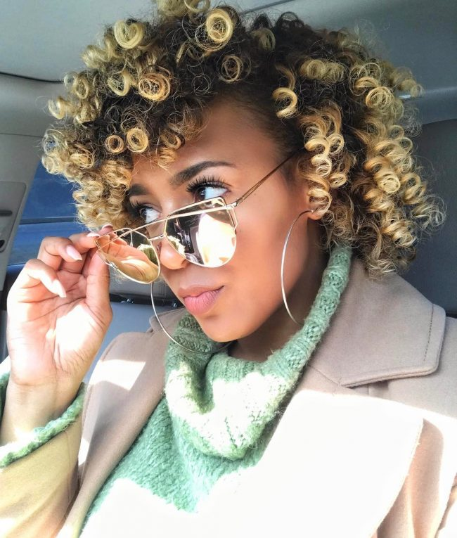 short natural hairstyles 19