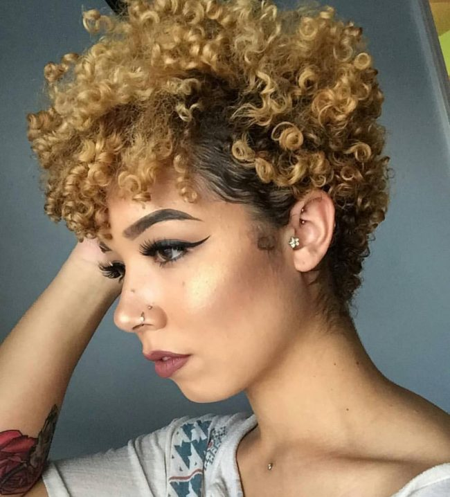 short natural hairstyles 3