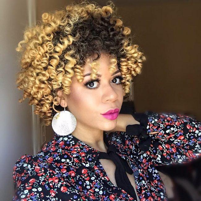 short natural hairstyles 37