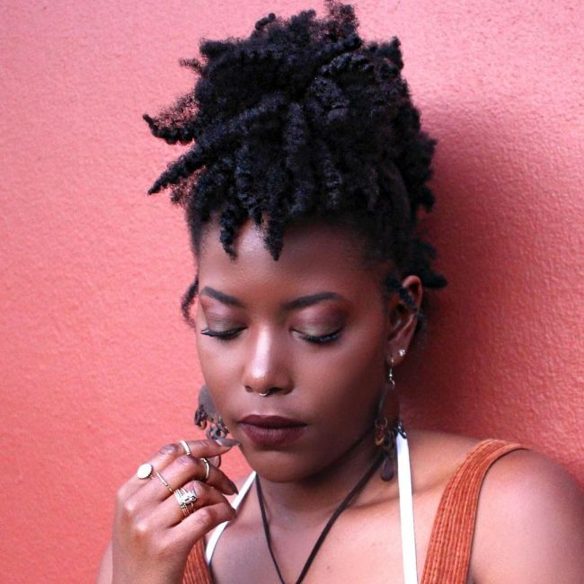 short natural hairstyles 45